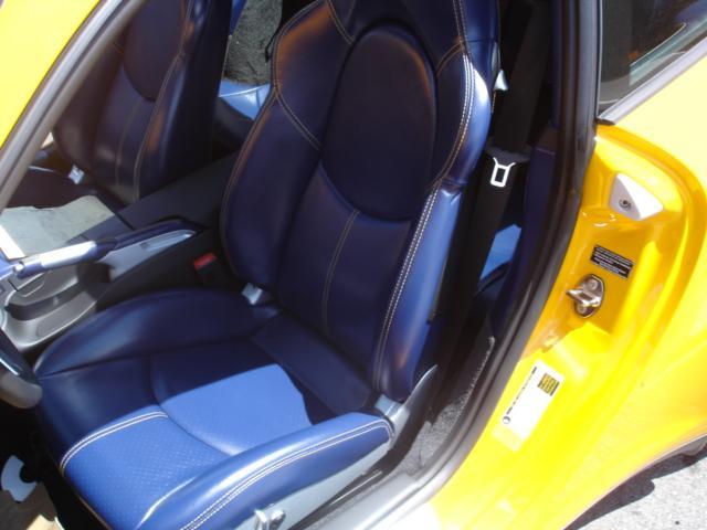 Yellow Porsche Turbo Coupe With Sea Blue Interior