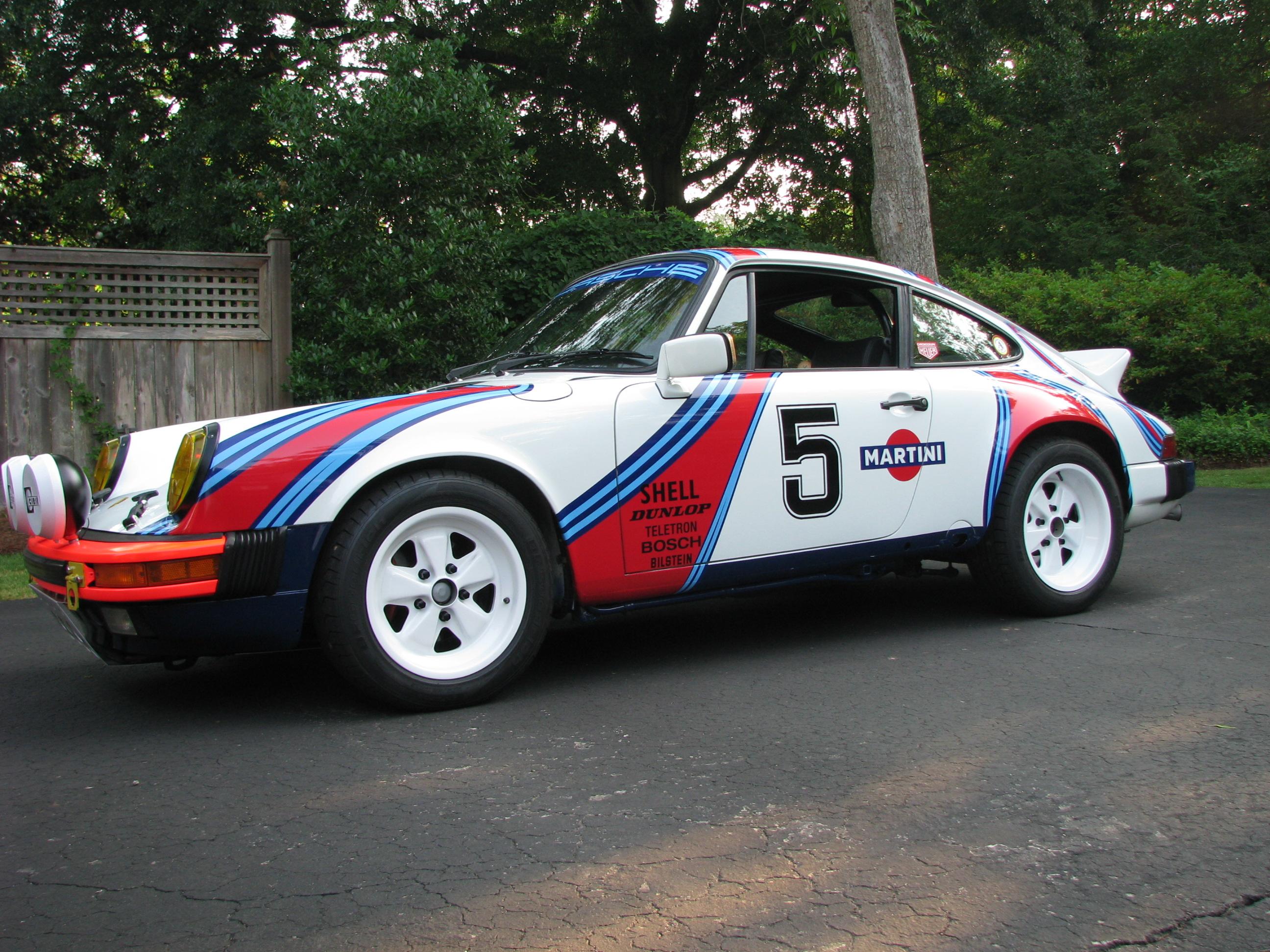 Martini Racing Inspired Porsche Carrera Rally Car