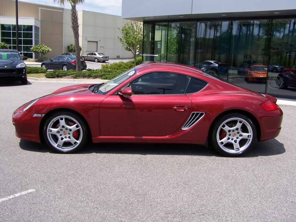 2008 Porsche Cayman S In Ruby Red With Aluminum Look