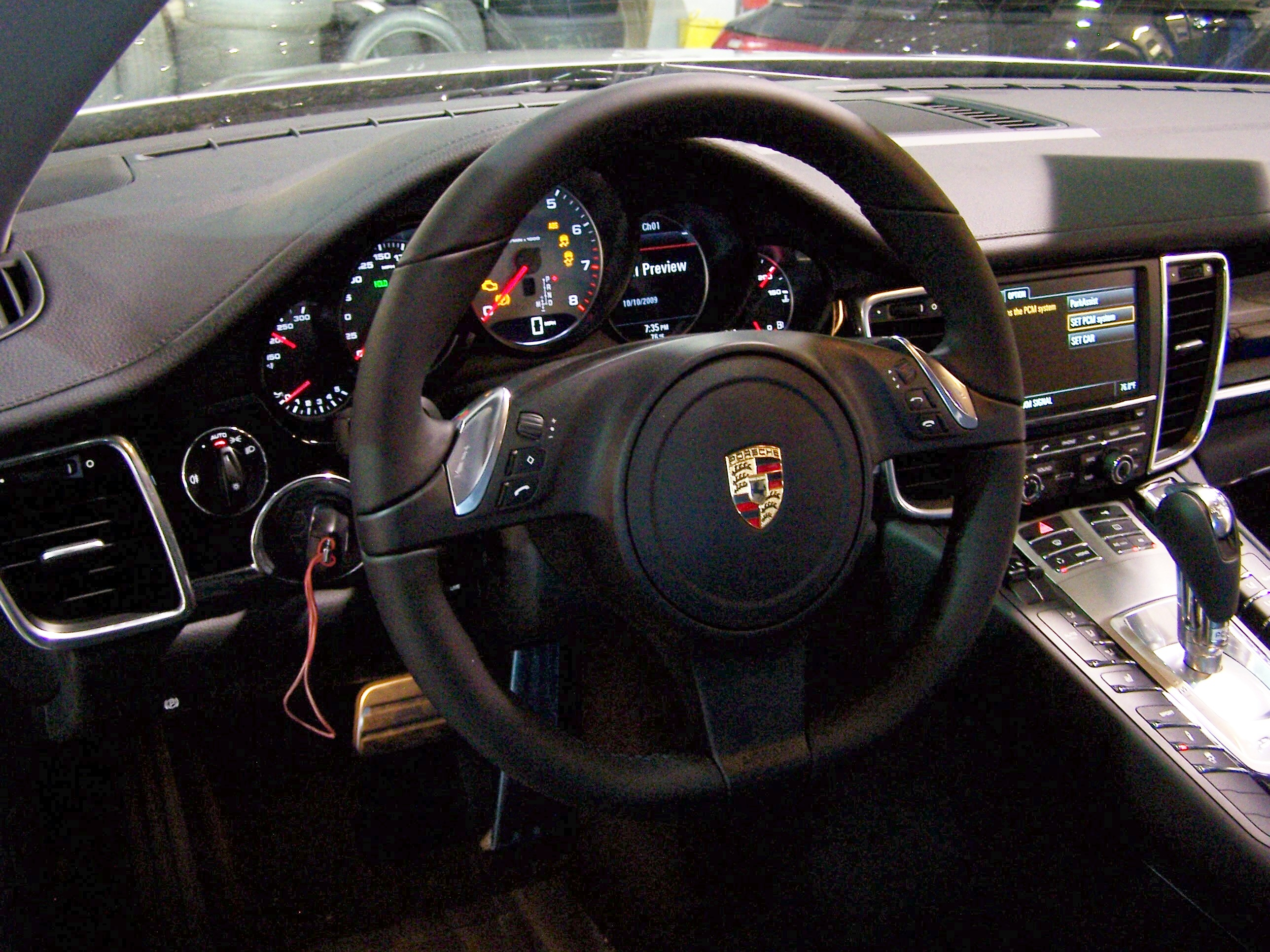 2010 Porsche Panamera S Interior Pictures At The Dealership