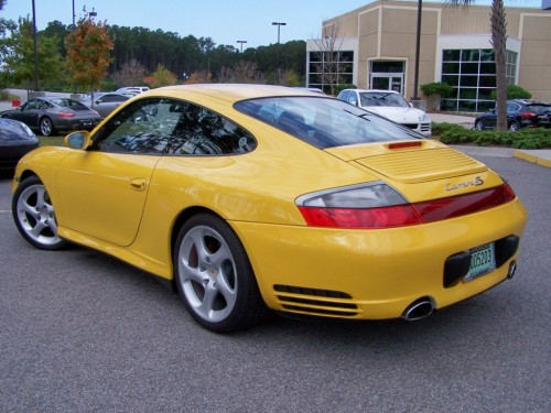 2002 porsche carrera 4s coupe speed yellow