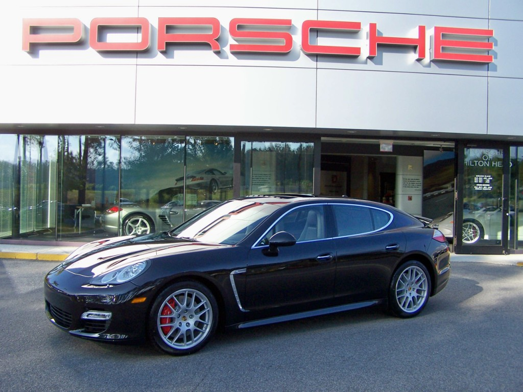 2010 Porsche Panamera Turbo In Basalt Black With Black Platinum Two Tone Interior Porschebahn Weblog