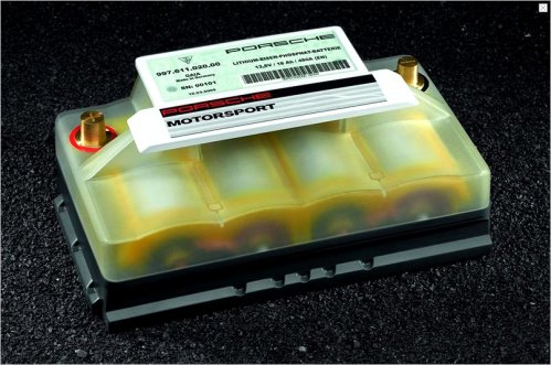 lithium battery for porsche gt3, gt3 rs, boxster spyder