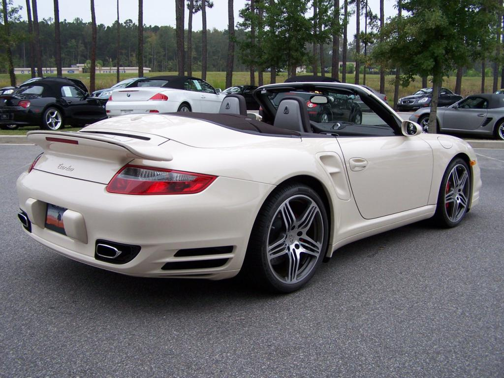 2009 porsche 911 turbo cab in cream white with cocoa. Black Bedroom Furniture Sets. Home Design Ideas