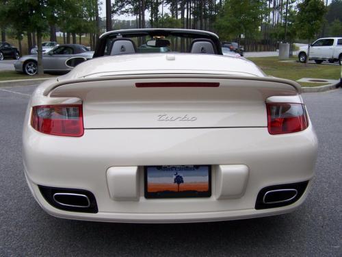 Cream White Porsche Turbo Cab