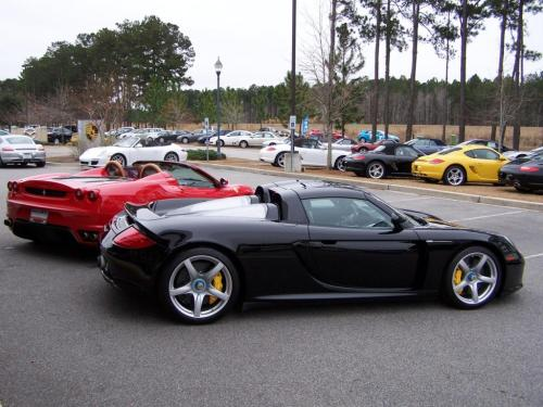 Porsche Carrera GT and Ferrari F430 Spider