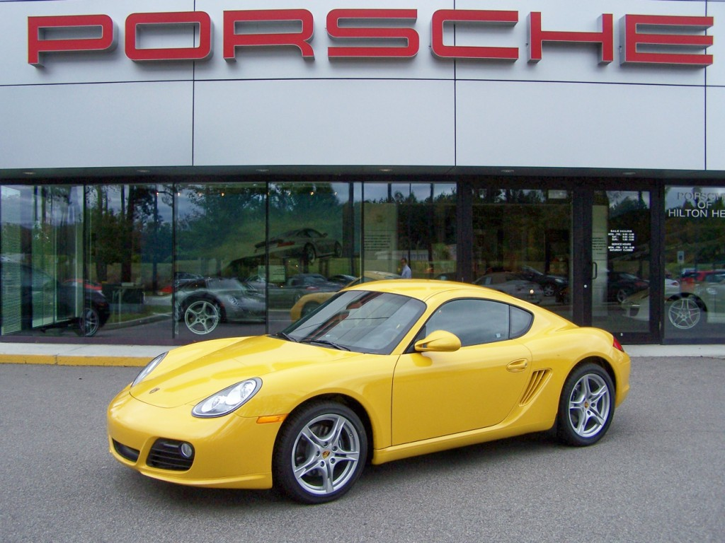 2010 Porsche Cayman in Sd Yellow with Black Interior and Sd ...