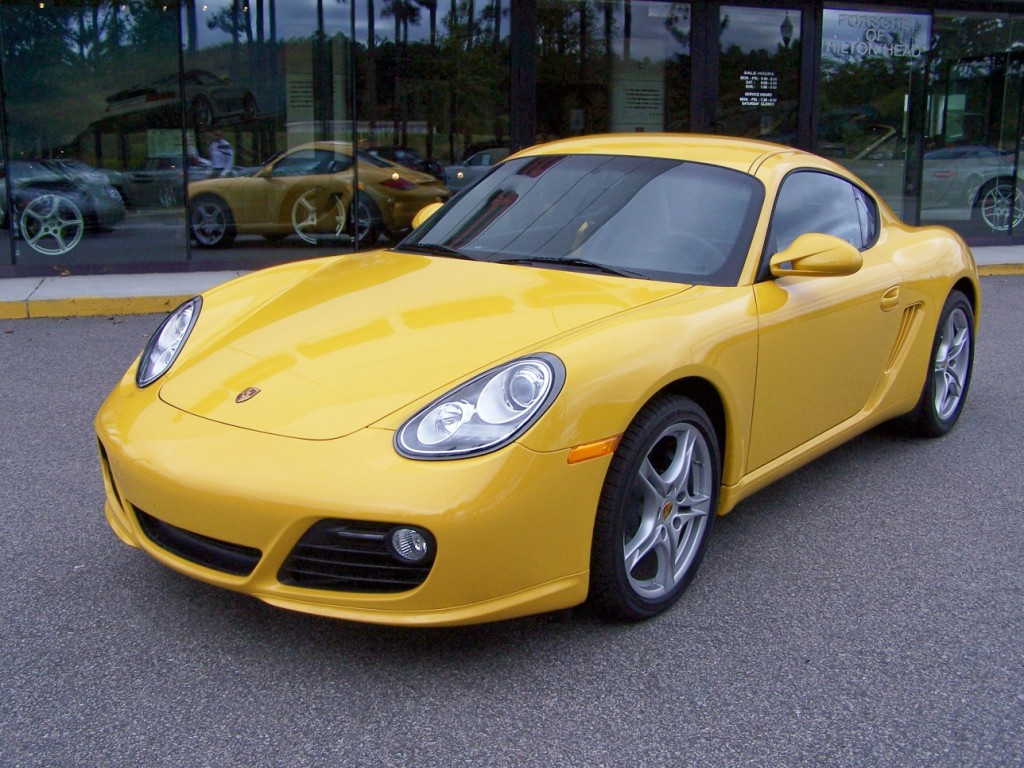 2010 Porsche Cayman In Speed Yellow With Black Interior And Speed Yellow Gauges Porschebahn Weblog