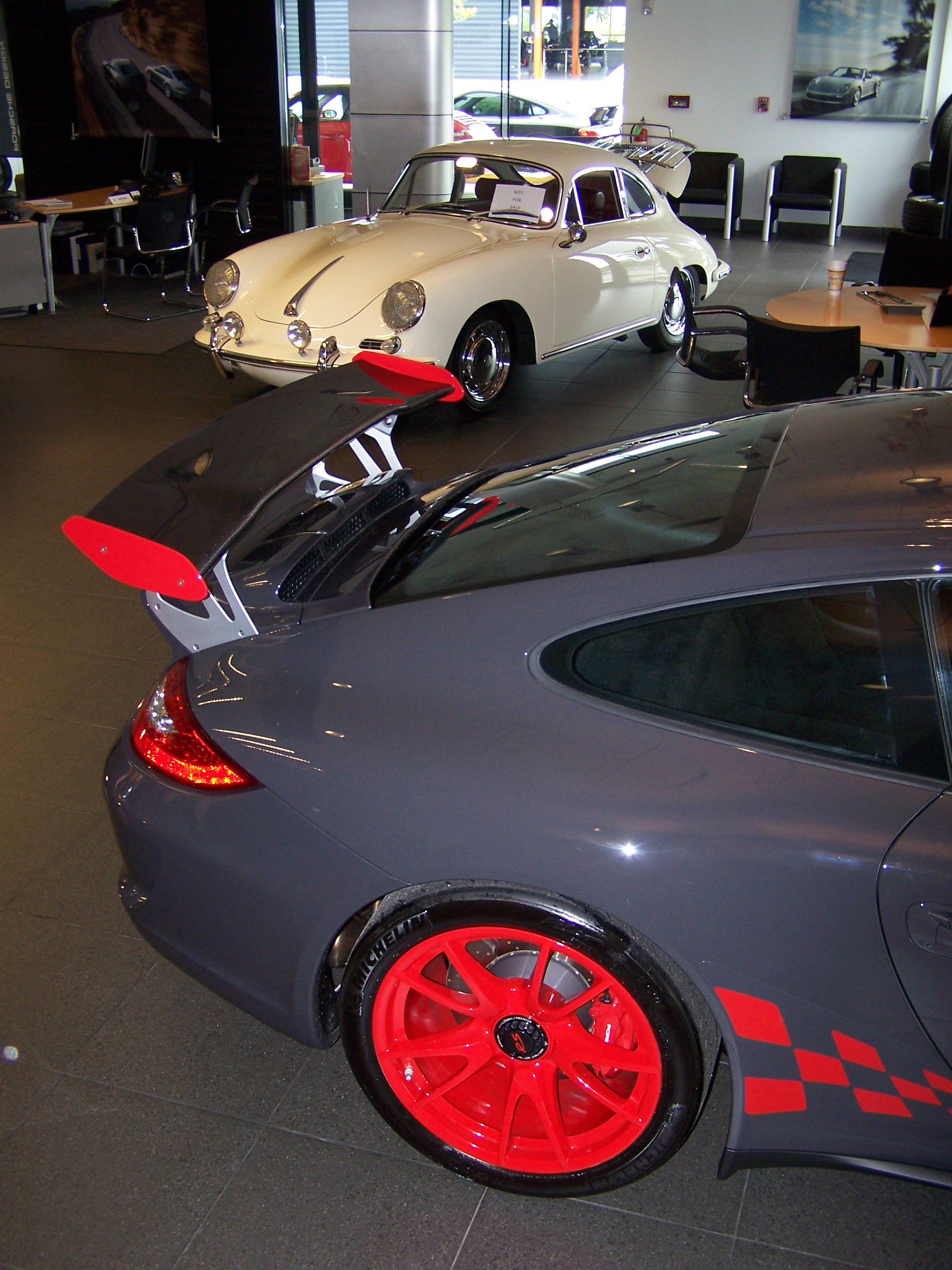 Red Wheel Weiser Online Bookstore: 2010 Porsche GT3 RS In Grey Black With Red Wheels And