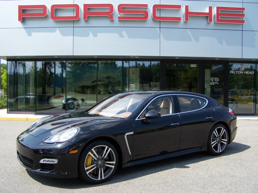 2010 Porsche Panamera Turbo In Basalt Black With Cognac