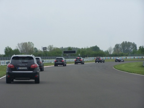 2011 Cayenne Turbo on the Porsche Leipzig race track