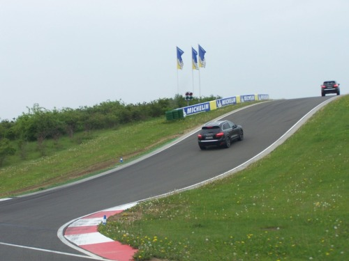 2011 Porsche Cayenne Turbo on the Porsche Leipzig race track