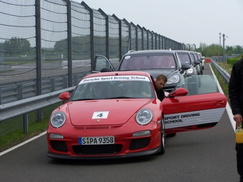 Porsche GT3 Pace car at the Porsche Leipzig race track