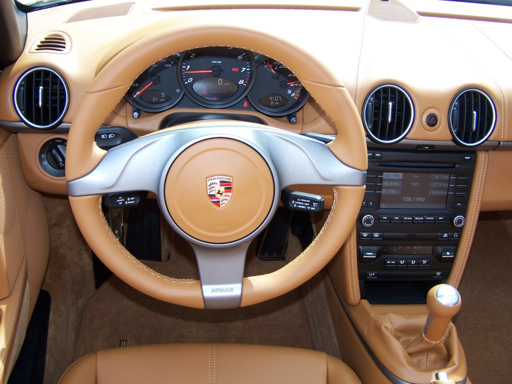 2010 Porsche Boxster In Cream White With Natural Brown