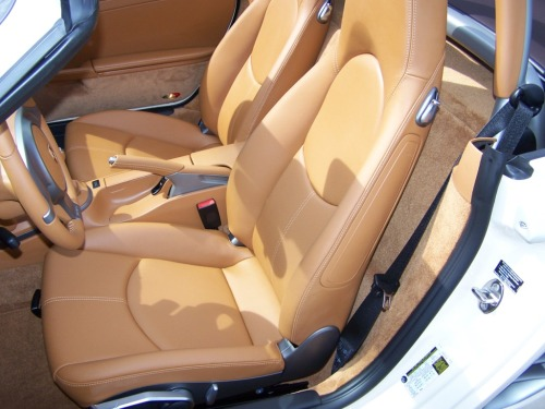 2010 Porsche Boxster in Cream White with Natural Brown Interior