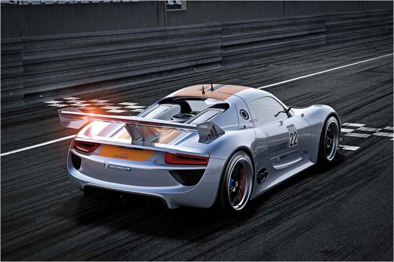 Porsche 918 Hybrid Race Car. R hybrid racing car proved