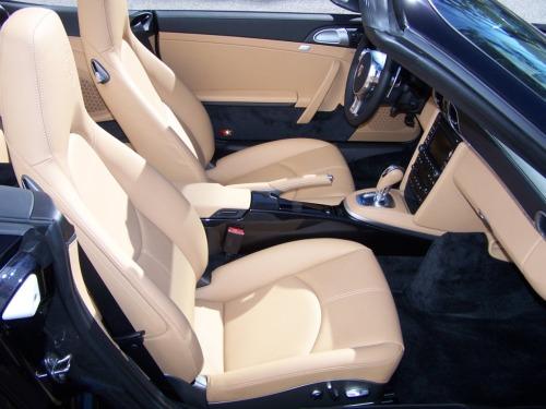 2011 Porsche Carrera S Cab, Porsche Black and Sand Beige interior