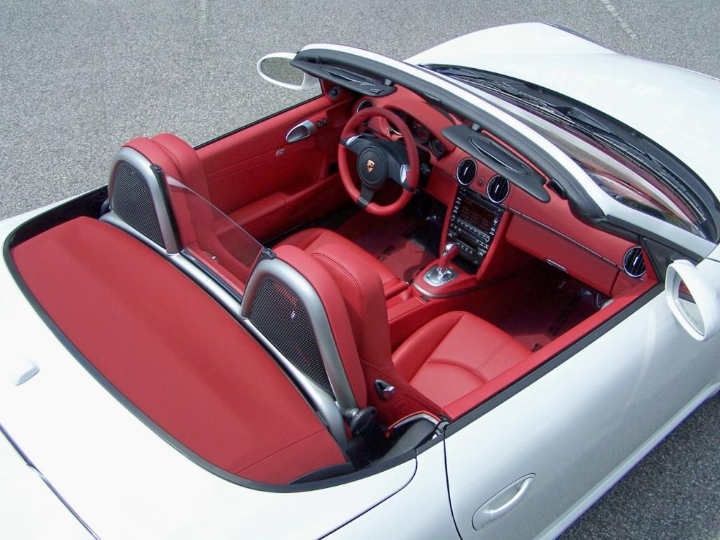 2012 Porsche Boxster In Carrera White With Carrera Red