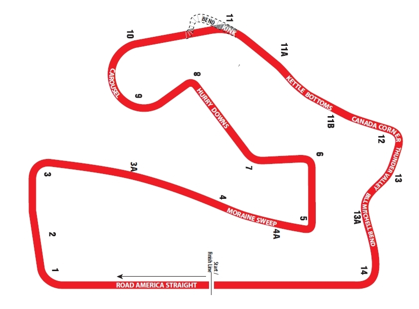 Mid Ohio Track Map >> Preview for American Le Mans Series round 6 at Road America in Elkhart Lake | Porschebahn Weblog