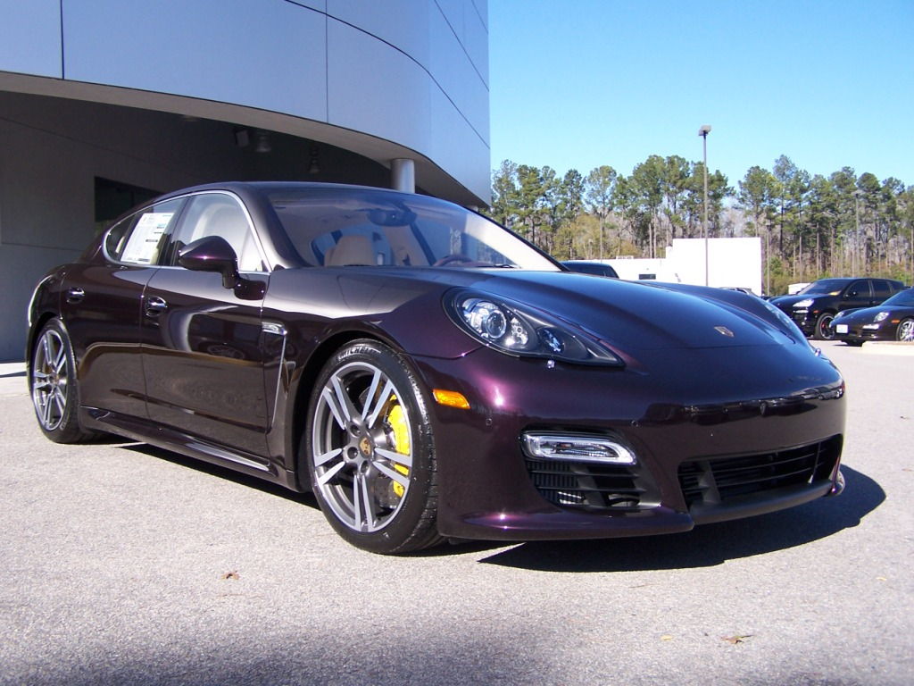 2012 Porsche Panamera Turbo S In Amethyst With Marsala Red And Cream Interior