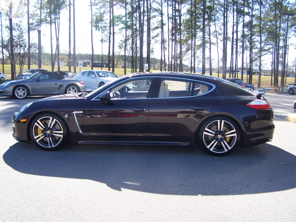2012 Porsche Panamera Turbo S In Amethyst With Marsala Red And Cream Interior This